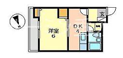 クレスタ舞子[3階]の間取り