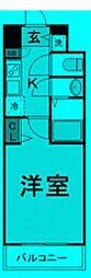 東京都千代田区神田須田町の賃貸マンションの間取り