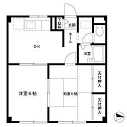 パレス鎌倉[2階]の間取り