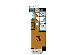 JR大阪環状線 寺田町駅 徒歩6分の賃貸マンション 11階1Kの間取り