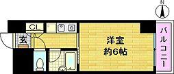 セレッソコート梅田東[2階]の間取り