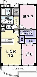 ラフォーレ広畑[4階]の間取り
