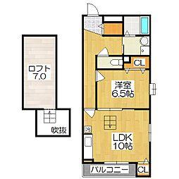 向島西堤町アパート[2階]の間取り