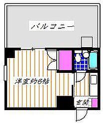 ジュネス永山[4階]の間取り