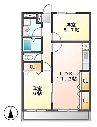 サザンウィンドパート3[4階]の間取り