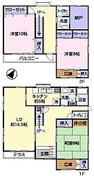 [一戸建] 埼玉県鶴ヶ島市富士見2丁目 の賃貸【/】の間取り