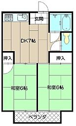 大原マンション[203号室]の間取り