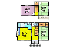 [一戸建] 愛知県知多市にしの台1丁目 の賃貸【/】の間取り