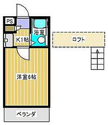 ジュネパレス新松戸第37[2階]の間取り