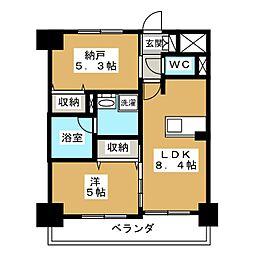 エステムプラザ京都聚楽第粋邸[5階]の間取り