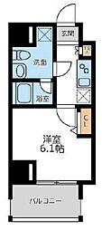 プライマル横濱平沼橋 4階1Kの間取り