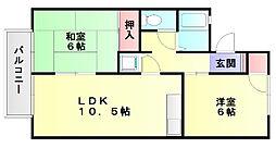 セジュール優2[2階]の間取り
