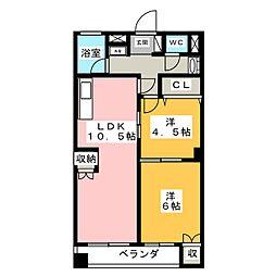 四ツ谷ビル[6階]の間取り