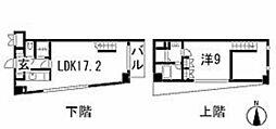 中野坂上ハイツ 4階1LDKの間取り