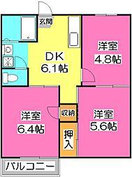 MKコーポ[2階]の間取り