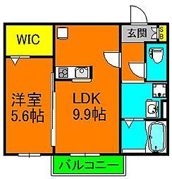 Chef-doeuvre Dainichi 1階1LDKの間取り