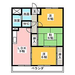 ディアコートSAKURADAI A棟[1階]の間取り