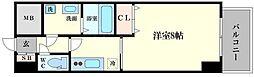 ノーブルコート堺筋本町[11階]の間取り
