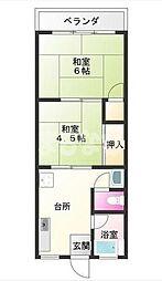 東京都江戸川区一之江2丁目の賃貸アパートの間取り
