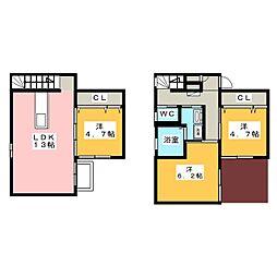 [一戸建] 愛知県犬山市大字羽黒字鳳町 の賃貸【/】の間取り