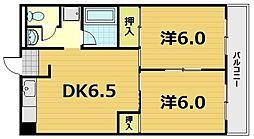 滋賀県野洲市小篠原の賃貸マンションの間取り