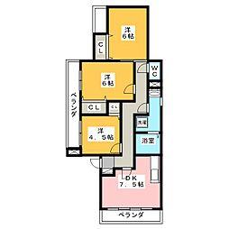 メゾングランシャリオ[2階]の間取り
