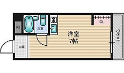 CLEAR HIGASHIMIKUNI[5階]の間取り
