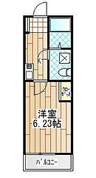 神奈川県厚木市恩名5丁目の賃貸アパートの間取り