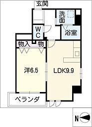 シェルジェ覚王山 3階1LDKの間取り