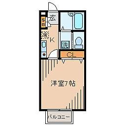 エルム新横浜[202号室]の間取り