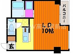 香川県高松市常磐町2丁目の賃貸マンションの間取り