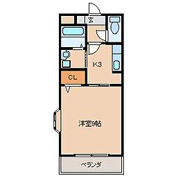 エトワールチサA・B[B202号室]の間取り