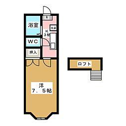 ホワイトキャッスル南小泉ビレジA棟[2階]の間取り