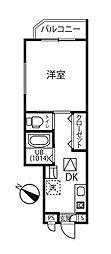 東武野田線 大和田駅 徒歩6分の賃貸アパート 2階1Kの間取り