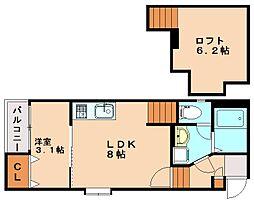 メゾン南福岡[1階]の間取り