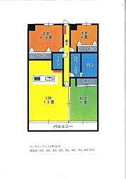 ロータスハウス1階Fの間取り画像