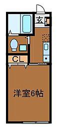 神奈川県川崎市麻生区片平2丁目の賃貸アパートの間取り