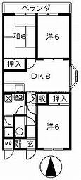 セゾンマンション[1階]の間取り