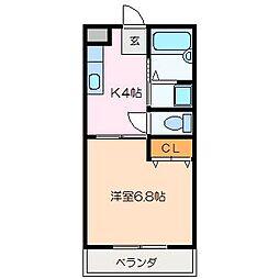 ローズガ−デンII[1階]の間取り