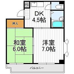 ステイト阿倍野[9階]の間取り