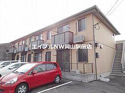 岡山県岡山市北区十日市中町丁目なしの賃貸アパートの外観