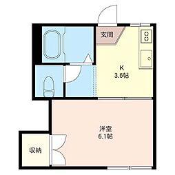 椿荘[1階]の間取り