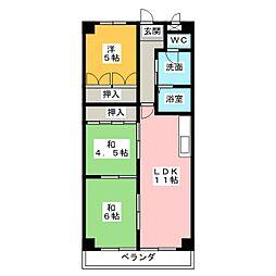 メゾン大殿[2階]の間取り