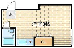 兵庫県神戸市須磨区妙法寺字谷野の賃貸アパートの間取り