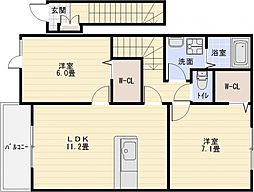 カーサプラシーダ[2階]の間取り