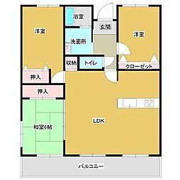 コアマンション柳丸[3LDK号室]の間取り