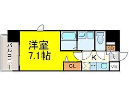 プレサンス名古屋STATIONキュオル[201号室]の間取り