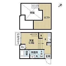 福岡県福岡市東区原田2丁目の賃貸アパートの間取り
