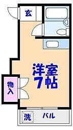 マリンハイツARAI2[202号室]の間取り
