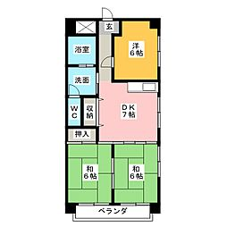 マンション山陽館[1階]の間取り
